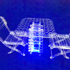 Acrylic table and chair products