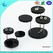 Black Acrylic Necklace Display Stand