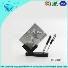 Acrylic photo frame pen display rack