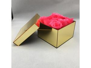 Gold mirror acrylic flower box