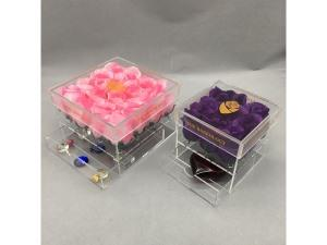 Plexiglass square flower box