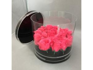 Acrylic round flower box