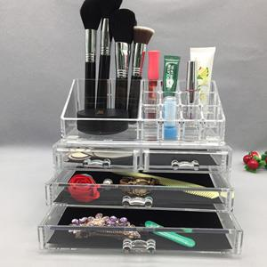 Cosmetic desktop storage display stand